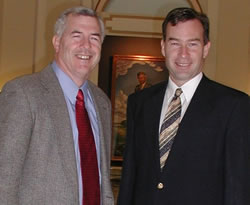 Representative Mike Reynolds (left) and Senator Jim Reynolds (right)